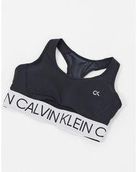 Calvin Klein Бюстгальтер Черного Цвета С Вырезами По Бокам -черный