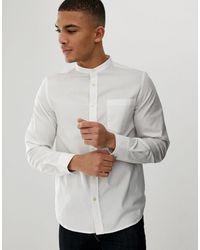 French Connection Plain Grandad Collar Shirt - White