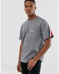 Sixth June - Camiseta gris con cuadros Príncipe de Gales - Lyst