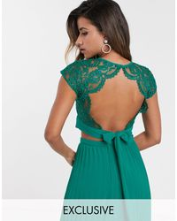 TFNC London Lace Shell Top - Green