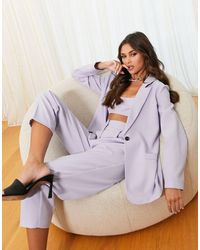 ASOS Mansy Tapered Suit Trouser - Purple