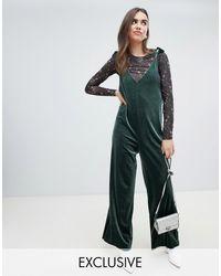Monki Overall Jumpsuit - Green