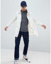 Penfield - Pancho Long Nylon Concealed Hood Parka Jacket In White - Lyst