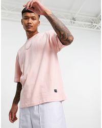 Bershka T-shirt oversize rosa