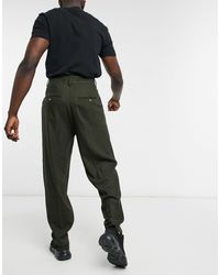 ASOS Pantaloni eleganti slim a vita alta - Multicolore