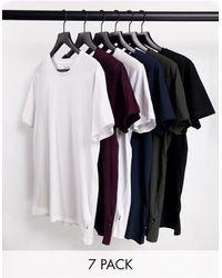 Burton – e T-Shirts im 7er-Pack - Mehrfarbig