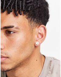 Tommy Hilfiger Logo Stud Earrings - Multicolour