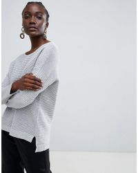 SELECTED - Lava Ribbed Knit Jumper - Lyst