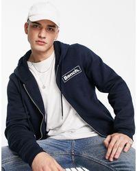Bench Full Zip Logo Hoodie - Blue