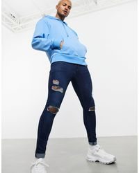 ASOS Jeans effetto spray - Blu