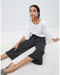 B.Young - Stripe Paneled Pants - Lyst