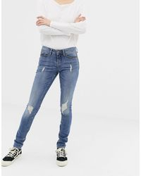 Blend She Nova Jappa Destroyed Skinny Jeans - Blue
