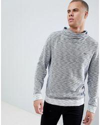 Esprit - Funnel Neck Sweatshirt In Grey Marl - Lyst