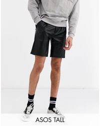 ASOS Tall - Pantaloncini slim - Nero