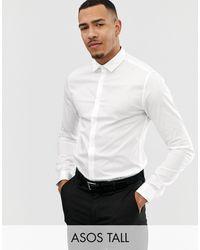 ASOS Tall Skinny Fit Shirt - White