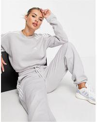 adidas Originals Sudadera corta gris con tres bandas