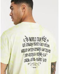 Weekday Camiseta en amarillo efecto teñido anudado Billy biodiversity