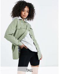 Noisy May Шалфейно-зеленая Джинсовая Куртка-рубашка -зеленый Цвет
