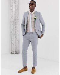 Burton Linen Suit Pants - Blue