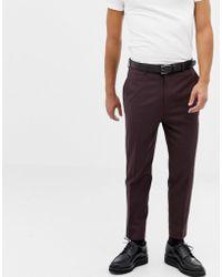 ASOS - Pantalones de traje tapered en marrn oscuro de - Lyst
