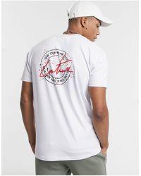 The Couture Club T-shirt ajusté avec imprimé tampon au dos - Blanc
