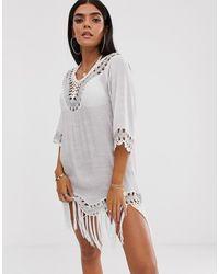 South Beach Пляжное Платье С Кисточками - Многоцветный