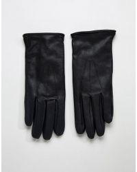 Paul Costelloe - Basic Leather Gloves In Black - Lyst