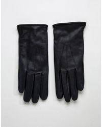 Paul Costelloe - Gants basiques en cuir - Noir - Lyst