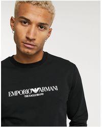 Emporio Armani Черный Свитшот С Логотипом