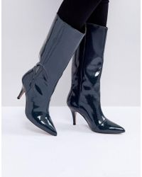 ASOS - Cabana Leather Patent Knee High Boots - Lyst