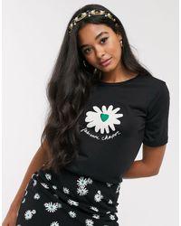 FABIENNE CHAPOT Wordy Daisy Print T-shirt - Black