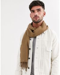 River Island Scarf In Camel - Natural