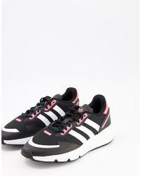 adidas Originals - Черные Кроссовки С Розовыми Вставками Zx 1k Boost-черный Цвет - Lyst