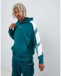 adidas Originals - Eqt Block Hoodie In Green Dh5222 - Lyst