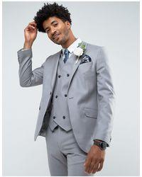 ASOS Серый Облегающий Пиджак Из 100% Шерсти Asos