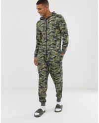 ASOS Onesie mit Military-Muster - Grün