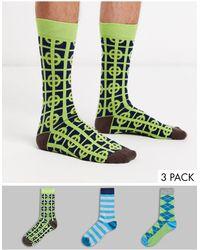 Happy Socks Hs Van 3 Pak Sokken - Meerkleurig
