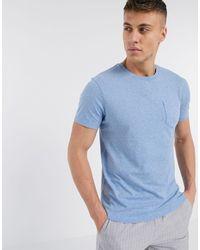 J.Crew Mercantile Camiseta de corte slim con bolsillo en azul río marga de