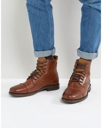 Levi's - Emmerson Leather Boots In Brown - Lyst