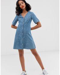 Monki Ridley Supersoft High Waist Ultra Skinny Jeans - Blue