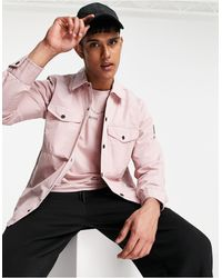 BOSS by HUGO BOSS - Светло-розовая Легкая Куртка С Прорезиненным Логотипом На Рукаве Lovel_7-розовый Цвет - Lyst