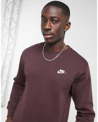 Nike Club - Sweater Met Ronde Hals - Bruin