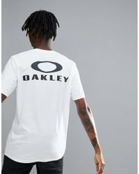Oakley | 50-bark T-shirt Back Logo Print In White | Lyst