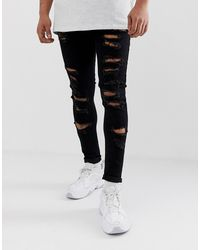 ASOS Spray On Jeans - Black