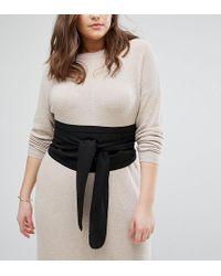 ASOS - Asos Design Curve Black Fabric Obi Belt - Lyst