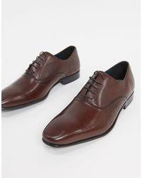 Burton Коричневые Кожаные Оксфордские Туфли -коричневый Цвет