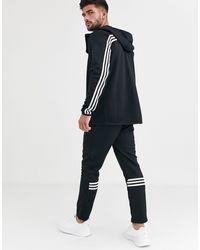 adidas Originals - Черные Брюки С Полосками Adidas Training-черный - Lyst