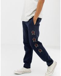 3daeb78c Tommy Hilfiger - 6.0 Limited Capsule joggers With Repeat Crest Logo In Navy  - Lyst