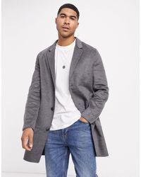 Jack & Jones Пальто С Добавлением Шерсти В Клетку -серый