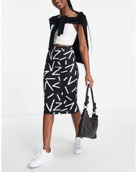 ASOS Midi Pencil Skirt - Black